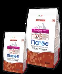 Monge Speciality Extra Small Корм с ягненком и рисом для взрослых собак миниатюрных пород