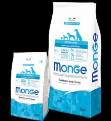 Monge Speciality Hypoallergenic Гипоаллергенный корм с лососем и тунцом для взрослых собак
