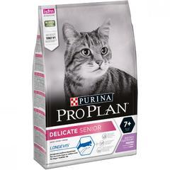 PRO PLAN Delicate Senior для кошек старше 7 лет с чувствительным пищеварением Индейка