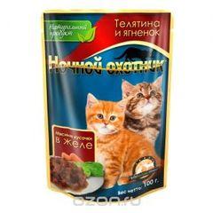 """Консервы для котят """"Ночной охотник"""" соус/желе"""