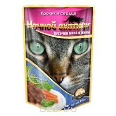"""Корм для кошек """"Ночной охотник"""" в желе"""