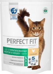 """Корм сухой Perfect Fit """"Sterile"""" для кастрированных котов и стерилизованных кошек, с курицей"""