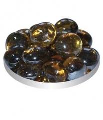 Грунт стеклянный №132 Плоский янтарный блестящий (170 г)