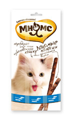 Лакомые палочки для кошек (форель, лосось). Мнямс