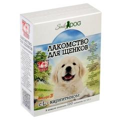 SMILE DOG Лакомствово для щенков с L-карнитином