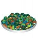 Грунт стеклянный №18 - круглый Радужный Зеленый 50шт.