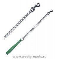 Поводок цепочка с ручкой 2*120см