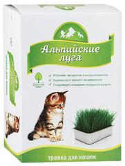 Травка для кошек Альпийские луга (лоток) 120 гр.