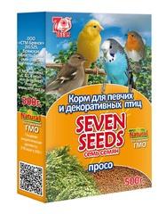Корм для певчих и декоративных птиц «SEVEN SEEDS» просо 500г