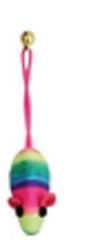 Мышь цветная веревочная 5 см.