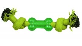 """Игрушка для собак """"Веревка-канат, 2 узла и кость"""", 240мм"""