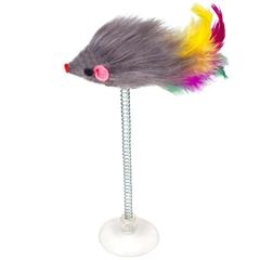 Игрушка меховая Мышь на присоске