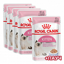 Royal Canin Киттен в соусе 4+1