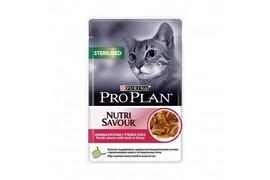 Pro Plan для стерилизованных кошек и кастрированных котов, пауч 85 г