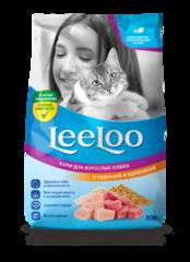 LeeLoo Корм сухой для взрослых кошек с курицей и кроликом