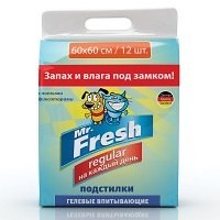 Пеленки гелевые Mr. Fresh Regular с липкими фиксатороми