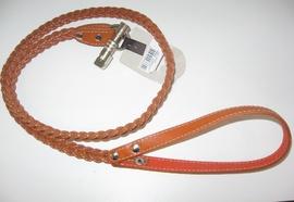 Поводок кожаный плетенный (236)