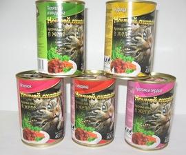 """Консервы для кошек """"Ночной охотник"""" желе/соус 400 гр."""