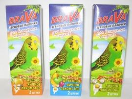 Зерновые палочки для волнистых попугаев Brava