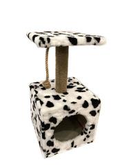 Дом для кошек меховой однополочный