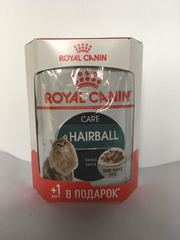 Royal Canin Хэйрболл Кэа в соусе 4+1