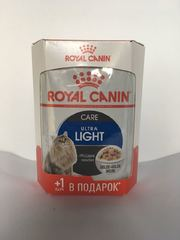 Royal Canin Ультра Лайт в желе 4+1