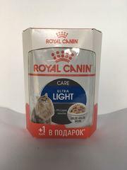 Royal Canin Ультра Лайт в желе 4+1