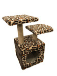 Дом для кошек меховой двухполочный