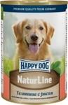 Консервы Happy Dog Natur Телятина с рисом