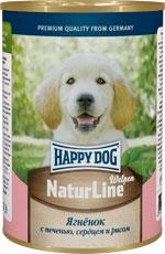 Консервы Happy Dog ягненок с печенью, сердцем и рисом