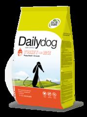 Dailydog PUPPY для щенков мелких пород с индейкой и рисом