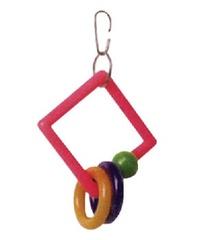 """Игрушка для птиц """"Треугольник с кольцами"""""""