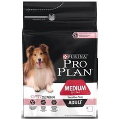 Сухой корм для собак средних пород с чувствительной кожей/ Лосось. Pro Plan Medium Adult Sensitivе