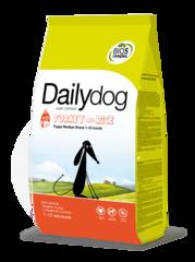Dailydog PUPPY для щенков средних пород с индейкой и рисом