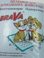 """Пеленки для домашних животных """"Брава"""" 30 шт."""