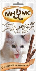 """Лакомство """"Мнямс"""" для кошек (индейка, ягненок). 15 гр."""