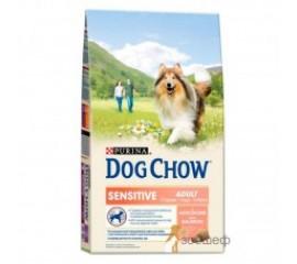 Dog Chow Sensitive корм для собак с чувствительным пищеварением Лосось/Рис