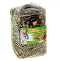 Сено луговое прессованное с овощами, 500 гр. Мышильд