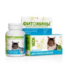 Фитомины с фитокомплексом для зубов и костей для кошек