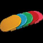 Щетка овальная резиновая цветная